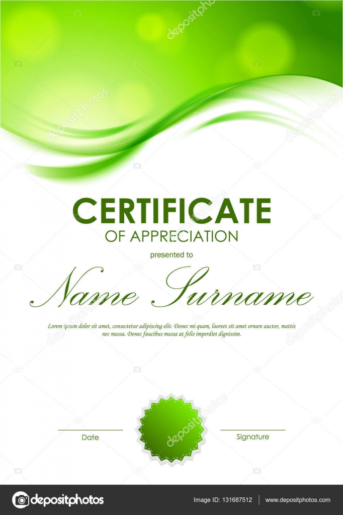Certificate of appreciation template — Stock Vector ...