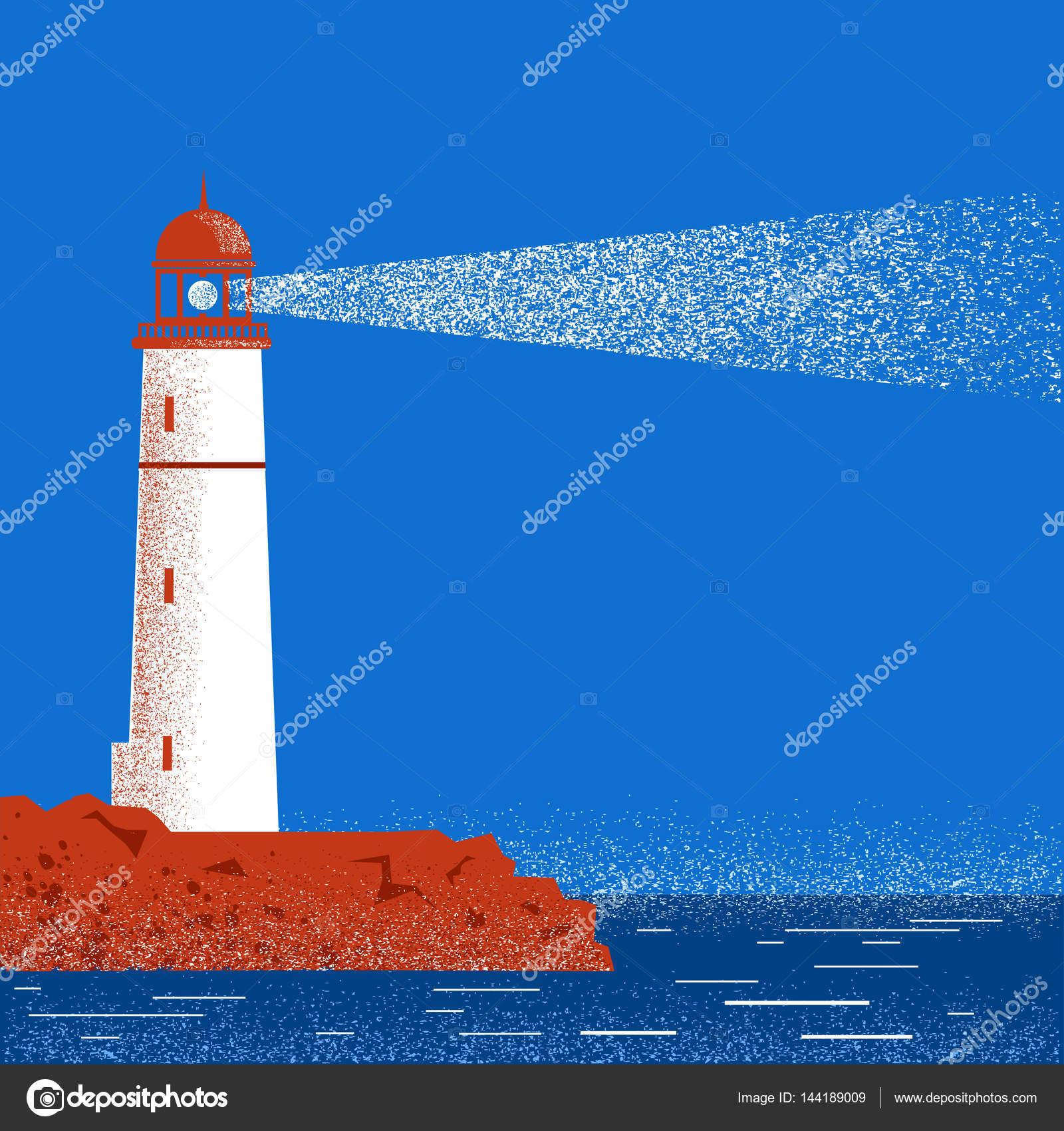 夜 海 灯台
