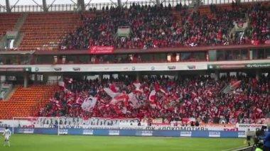 Spartak fans on soccer game