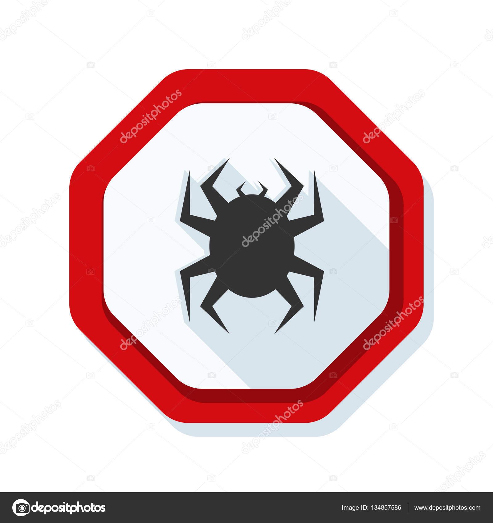 病毒保护盾标志,矢量图– 图库插图