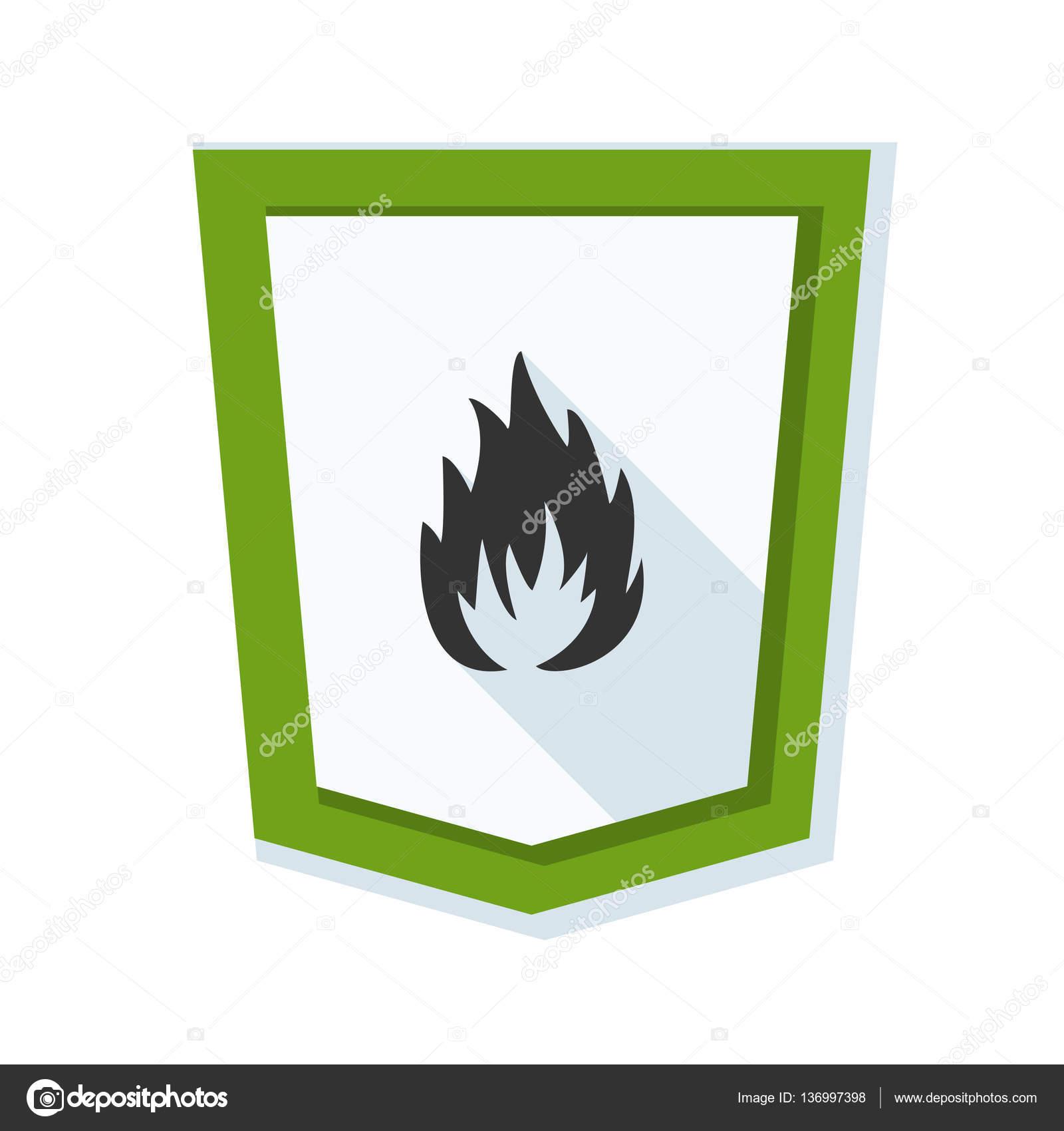 防火墙的盾牌标志,矢量图– 图库插图