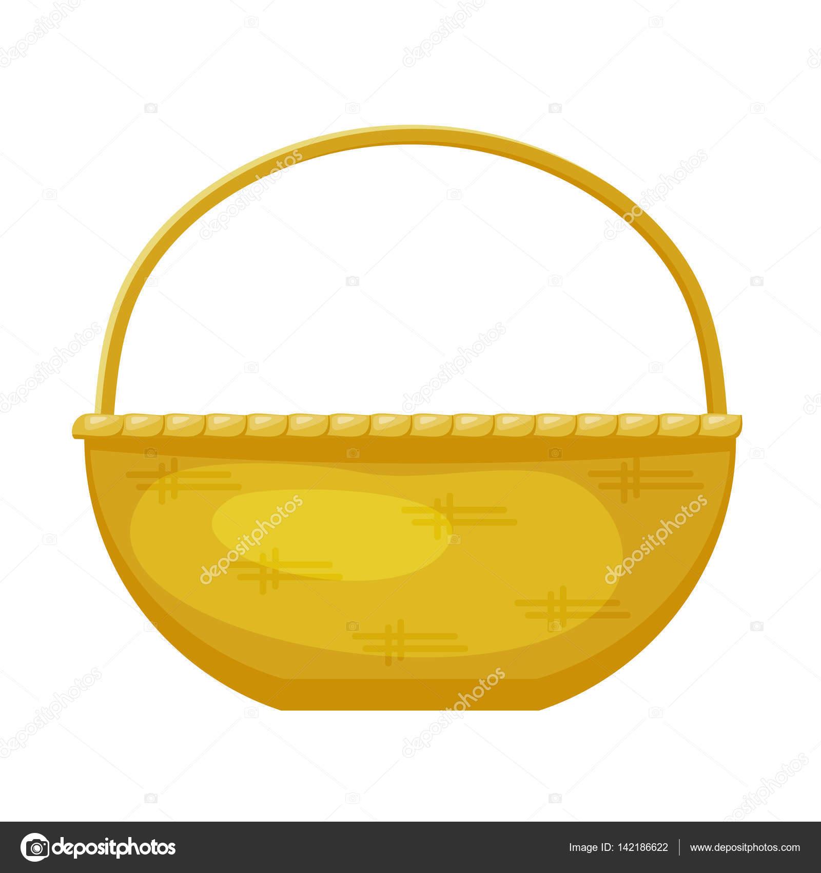 Vector de la imagen de una cestas de color simple hecha de - Cestas de mimbre para bebes ...
