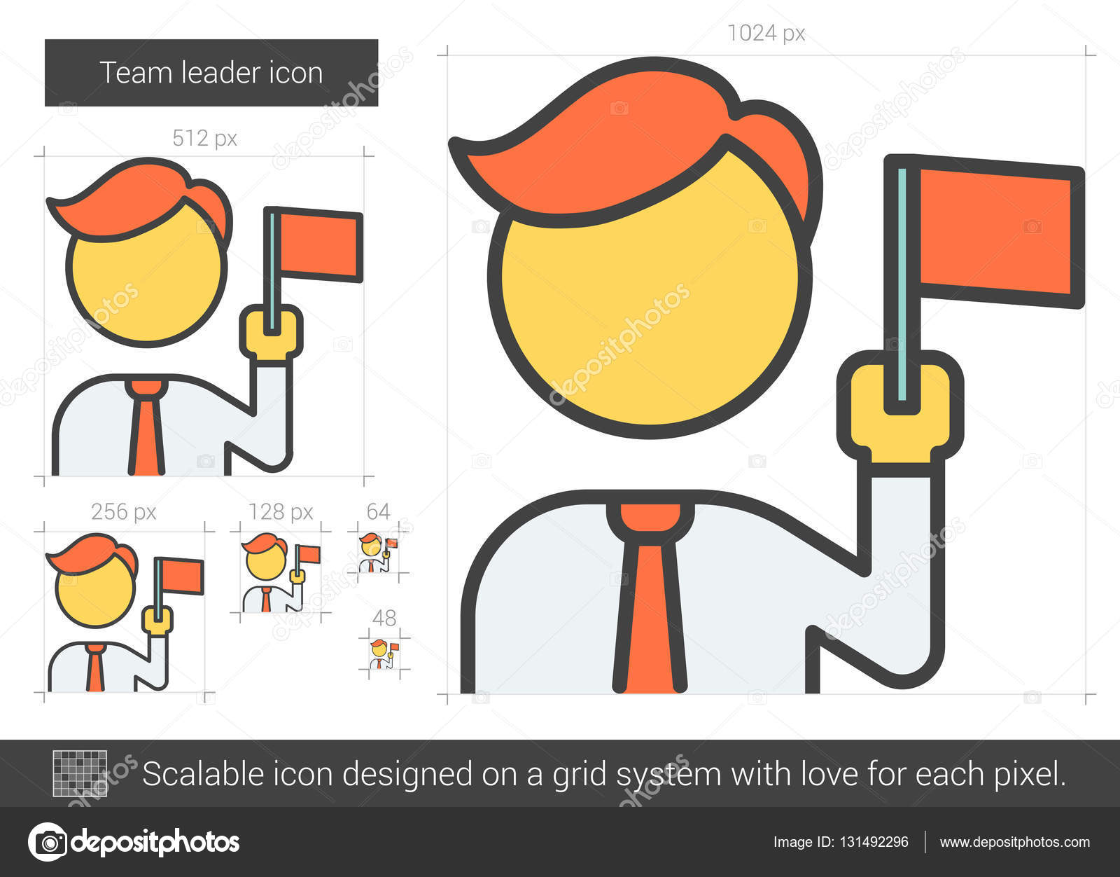 team leader line icon stock vector © rastudio 131492296 team leader vector line icon isolated on white background team leader line icon for infographic website or app scalable icon designed on a grid system