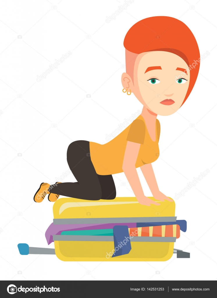 Frustrated woman clip art