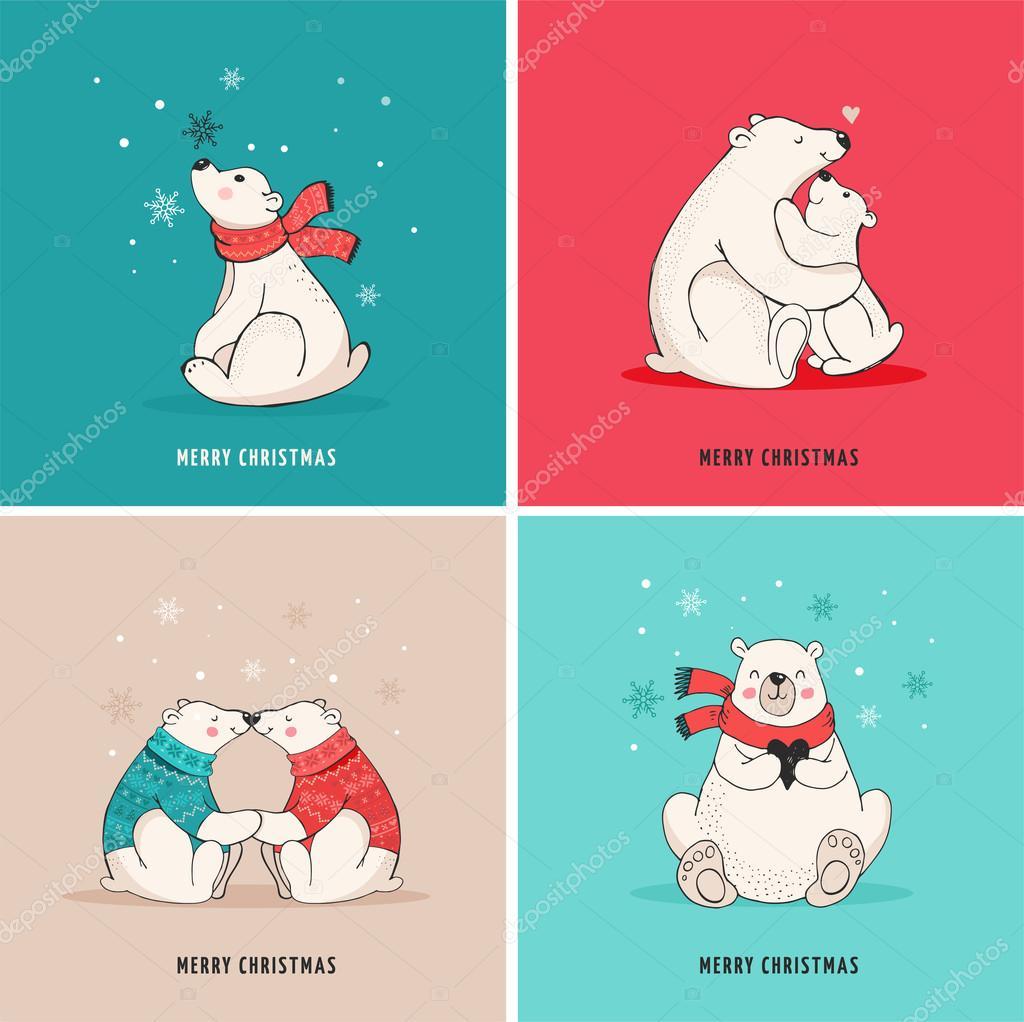 Медведи нарисованные открытки
