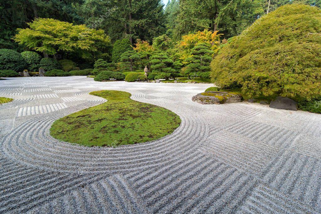 Jard N Japon S De La Plana Con Dise O De Cuadros Fotos