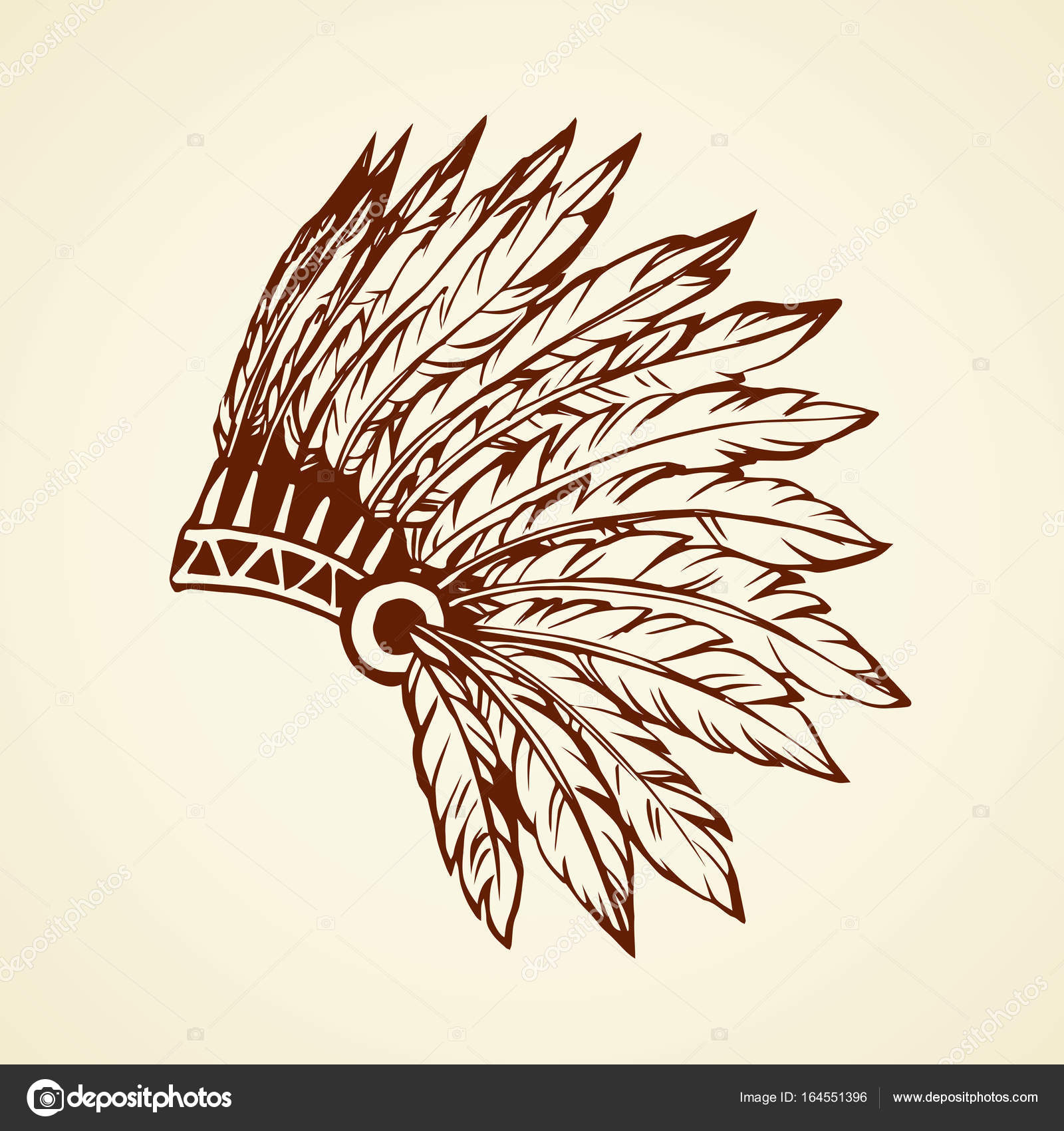 Native american eagle feather drawings