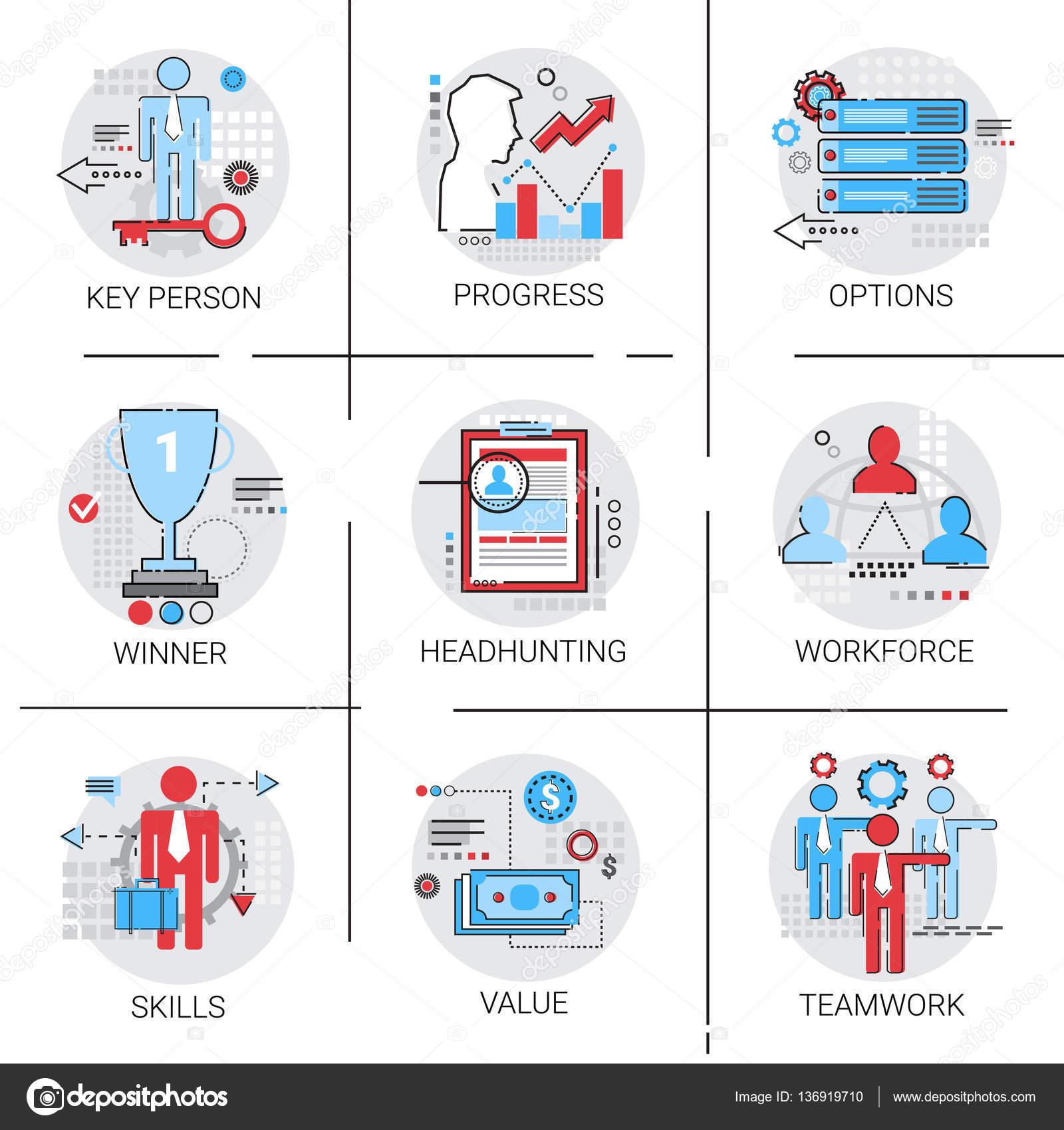 work skills icon set stock vectors royalty work skills icon work force management business team leadership icon set progress skills headhunting stock vector