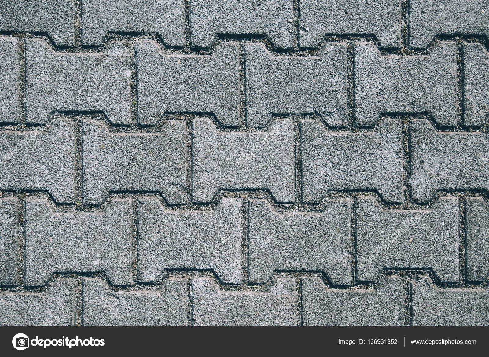 h-förmige betoneinbau platten oberfläche — stockfoto