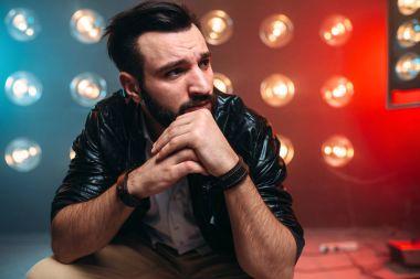 Male bearded singer