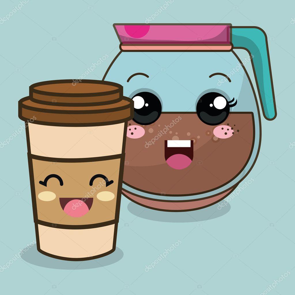 Best Coffee Mug Dessin Anim 233 Kawaii De Boisson Caf 233 Image Vectorielle
