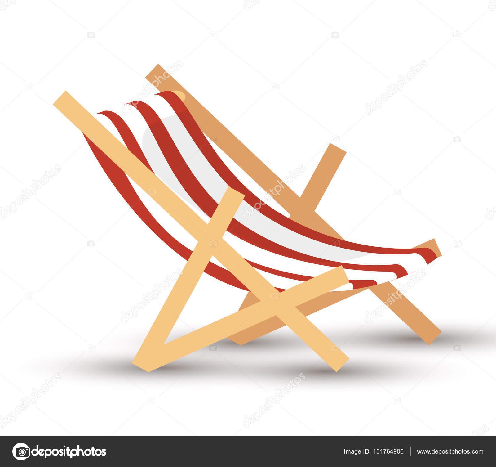 Icono aislado de silla playa vector de stock 131764906 depositphotos - Silla de playa ...