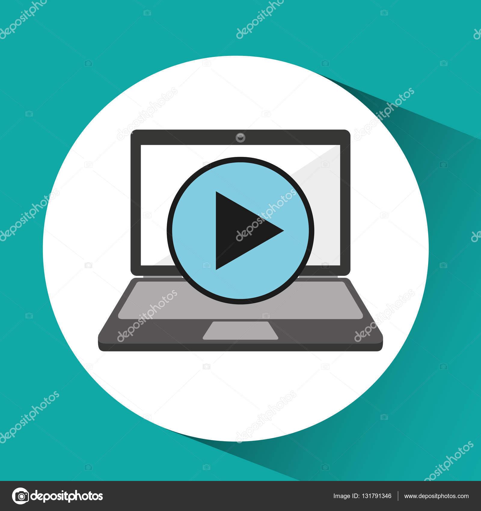 在线商店购物视频播放器图形矢量图 eps 10– 图库插图