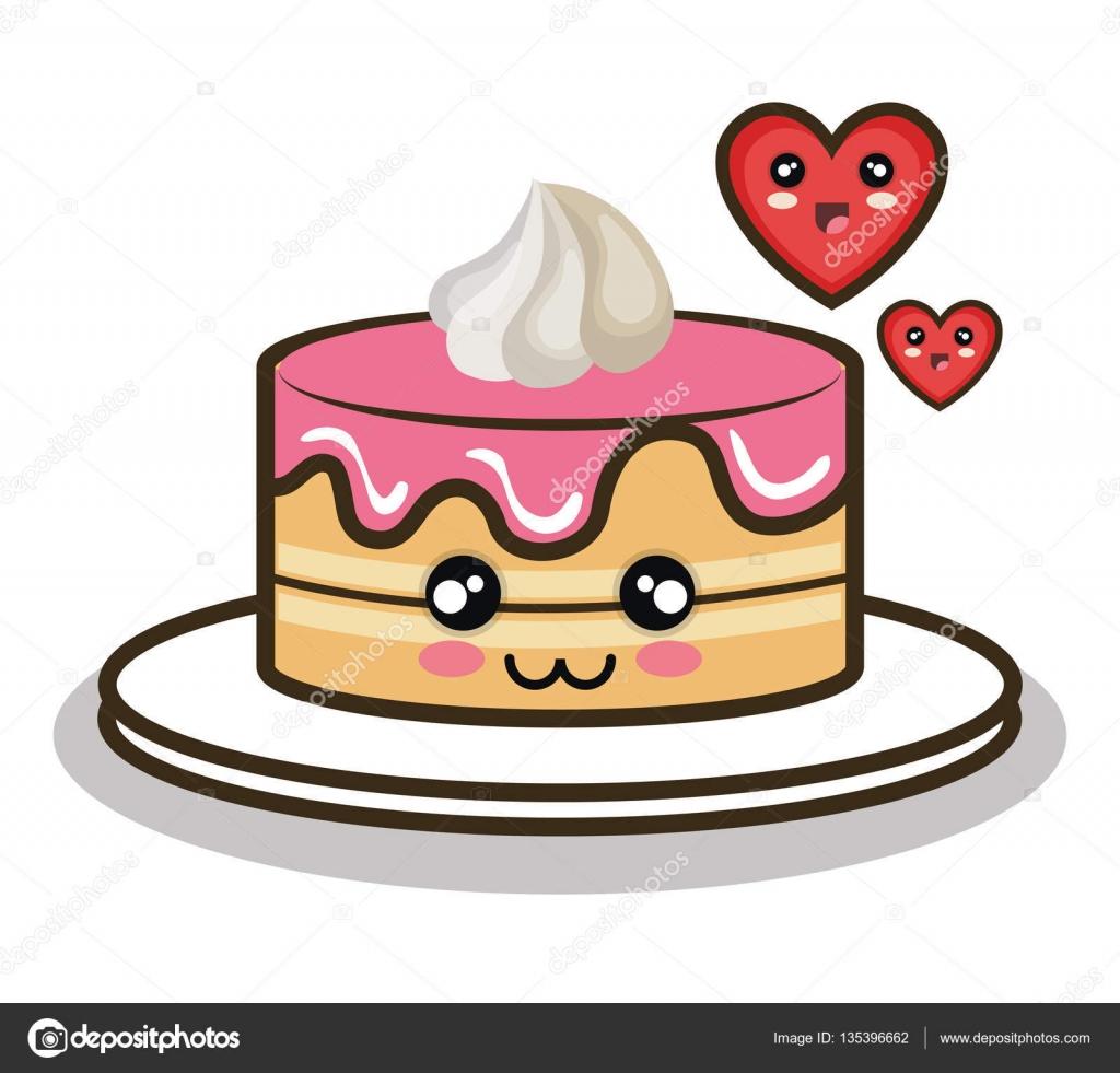 Dise o de dibujos animados pastel amor postre archivo - Dessert dessin ...