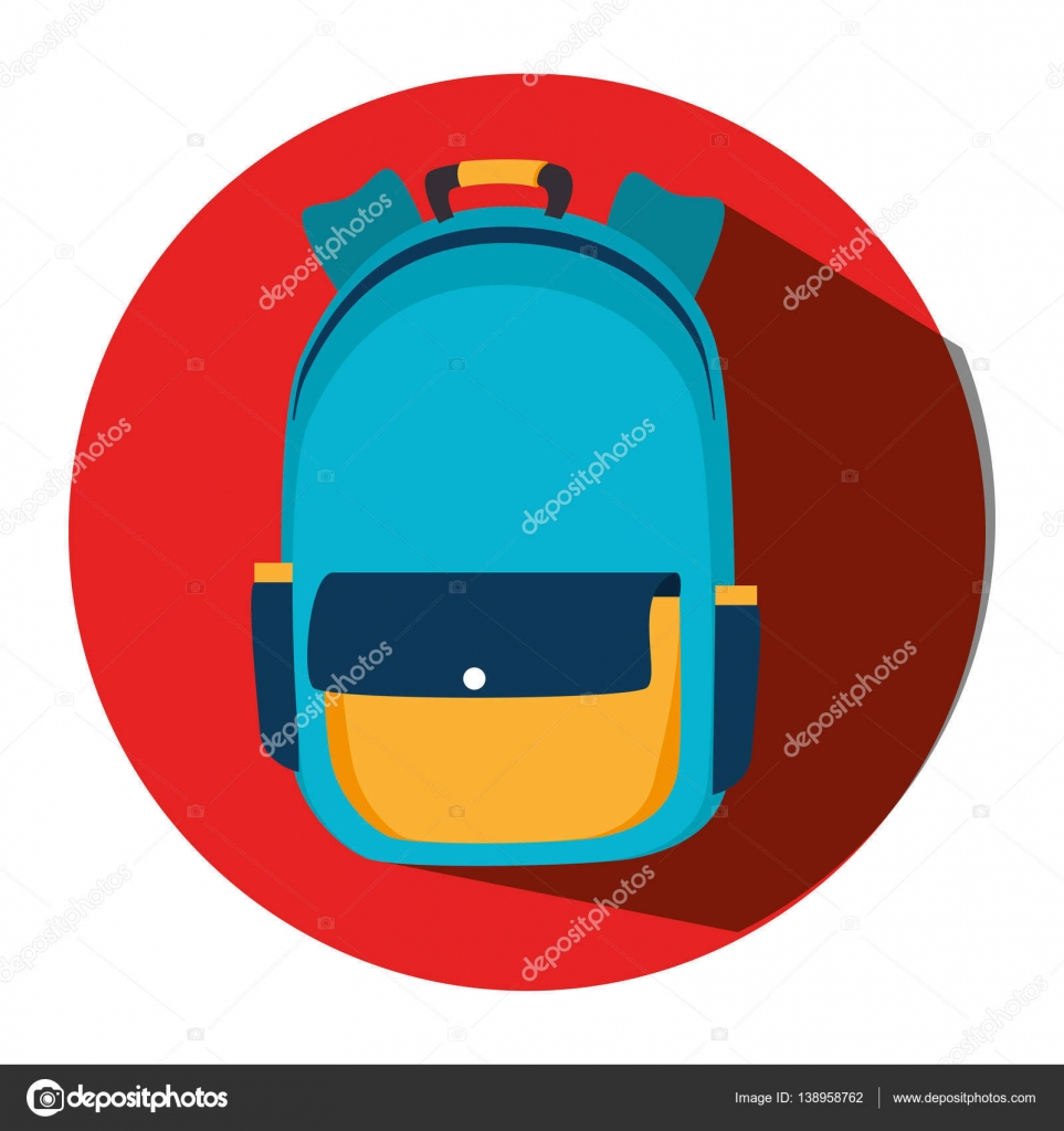 School bag diagram - School Bag Equipment Icon Stock Vector 138958762