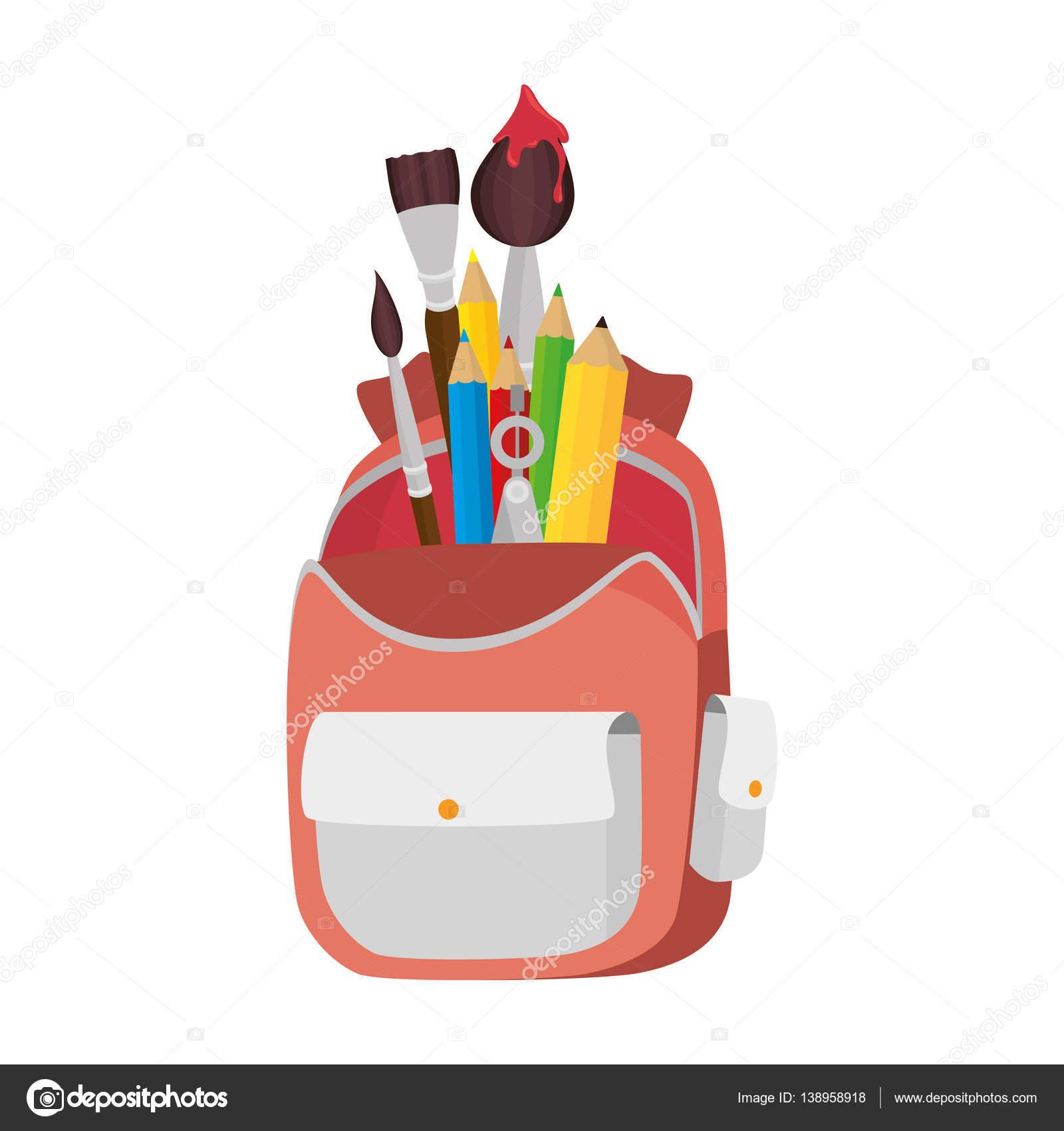 School bag diagram - School Bag Equipment Icon Stock Vector 138958918