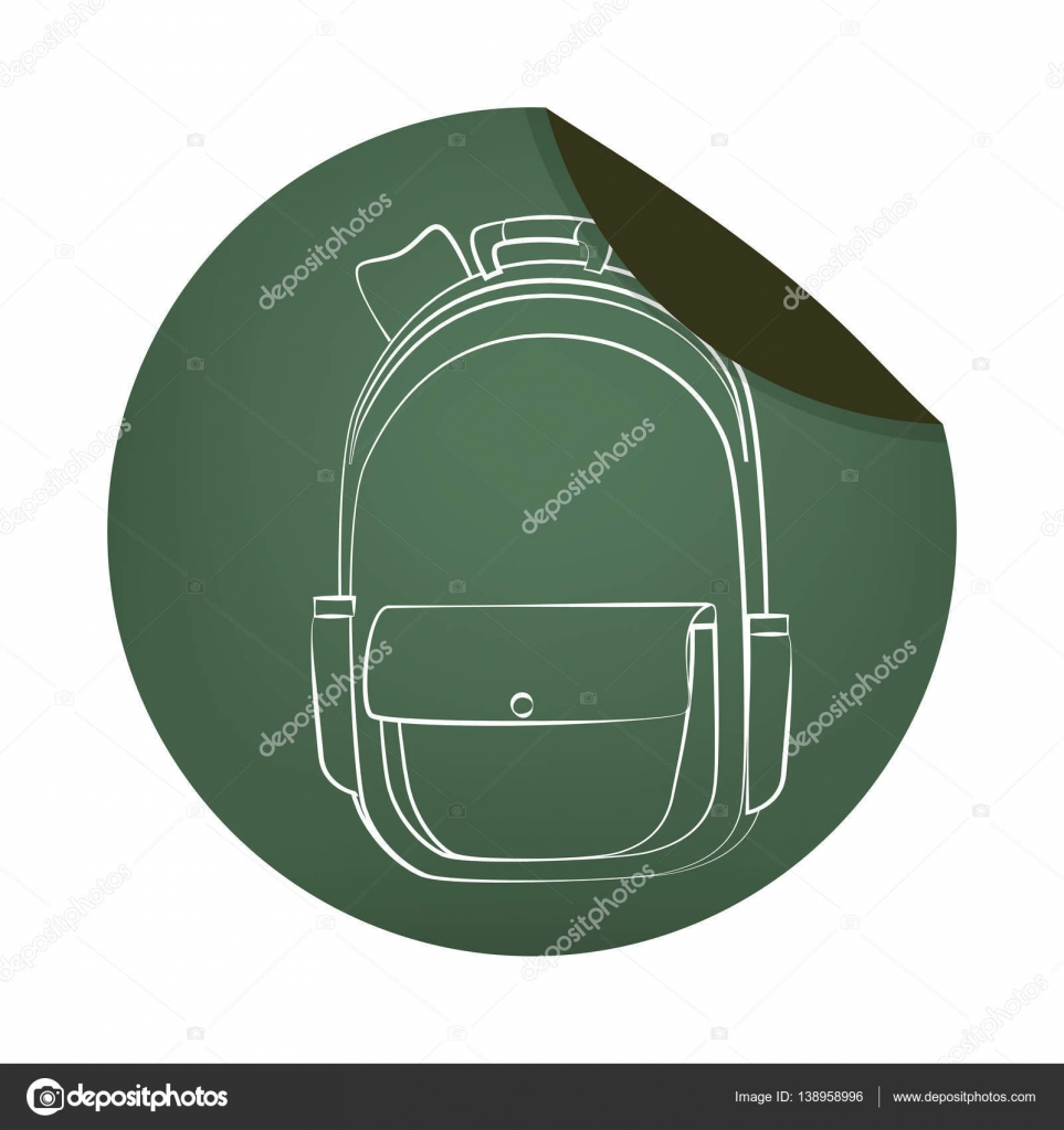 School bag diagram - School Bag Equipment Icon Stock Vector 138958996