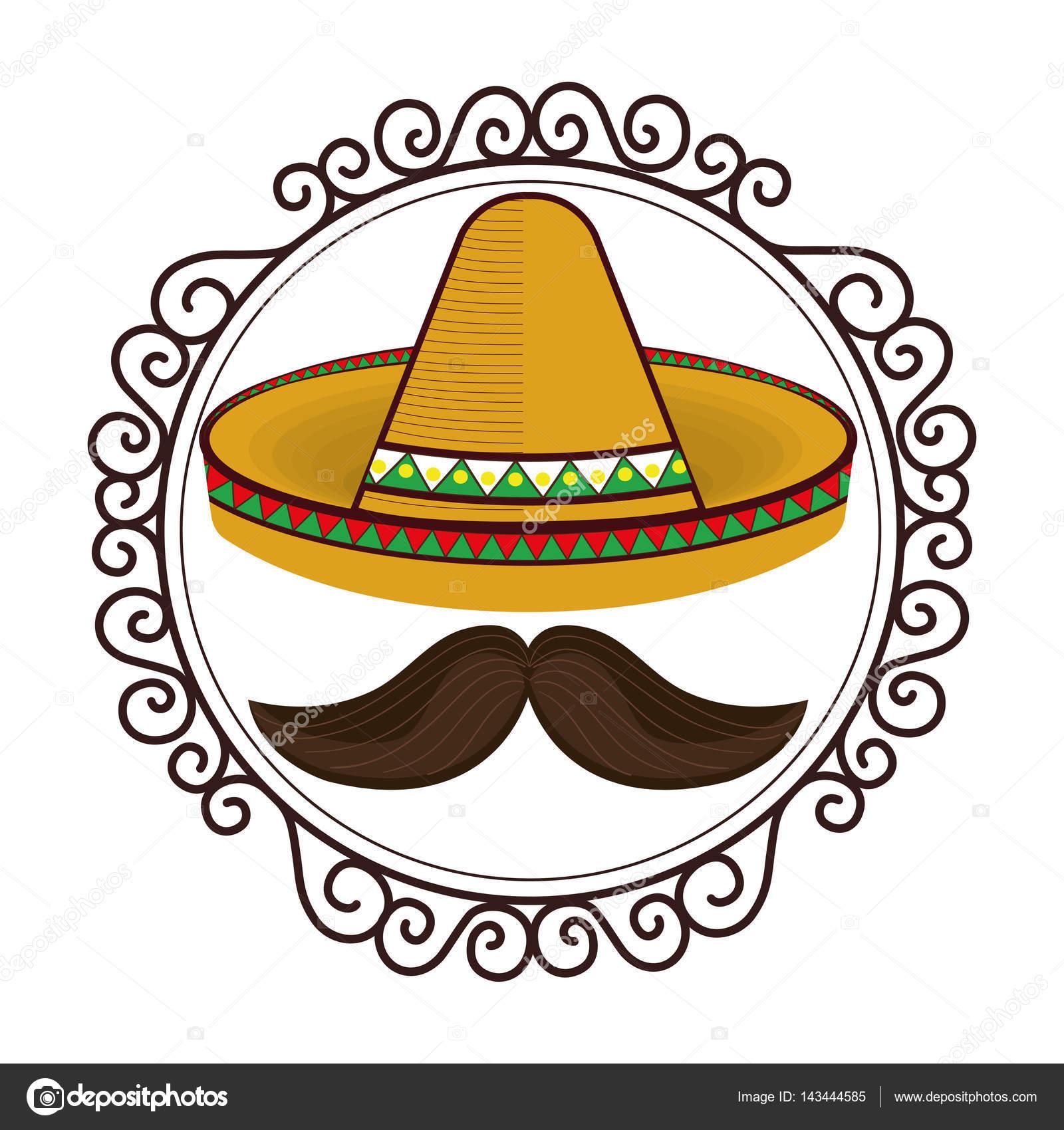 vintage frontera con sombrero y bigote de cultura mexicana sombrero clip art png sombrero clip art png