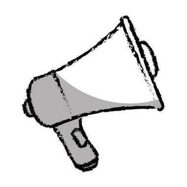 Megaphone sound isolated icon