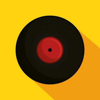 Vinyl retro music icon
