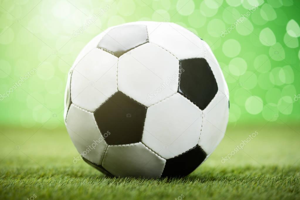 Football field close up