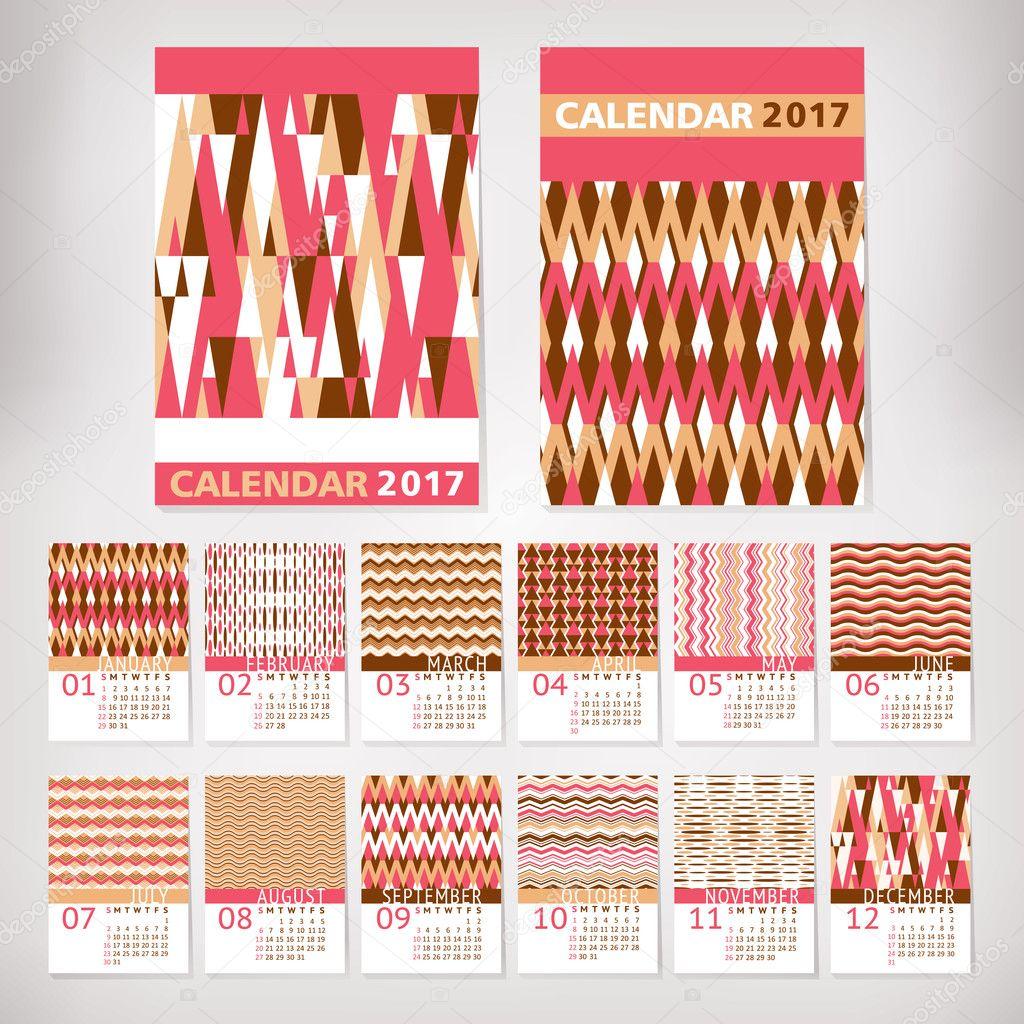 Стильные календари 2017