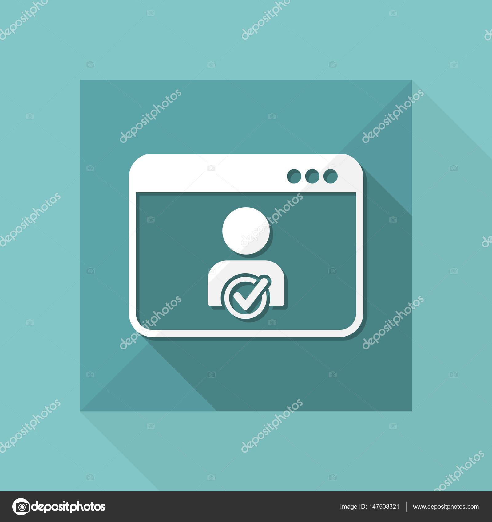 检查web 联系人-矢量图标– 图库插图