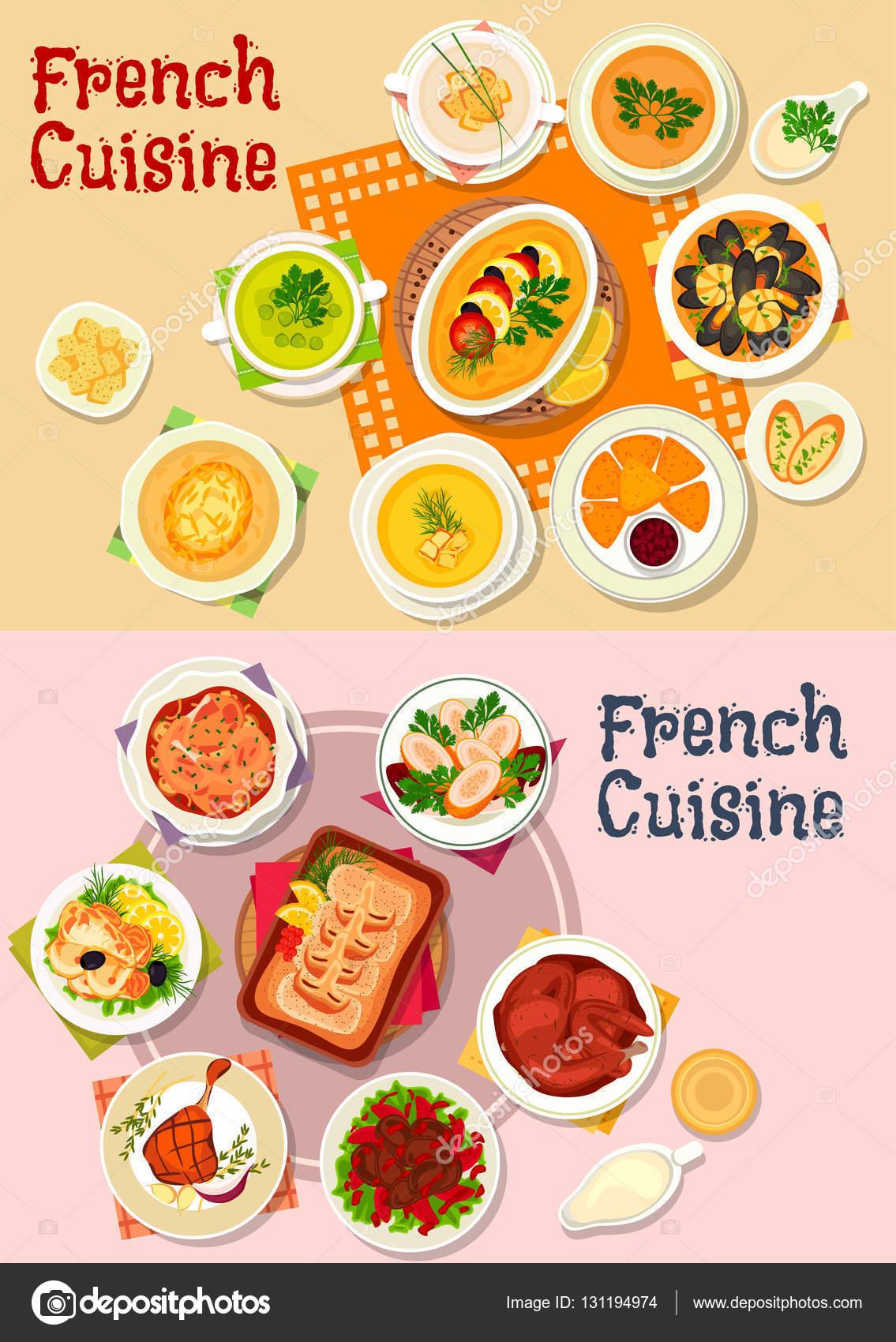 Icono del plato nacional de cocina francesa para el dise o for French cuisine 3 modules