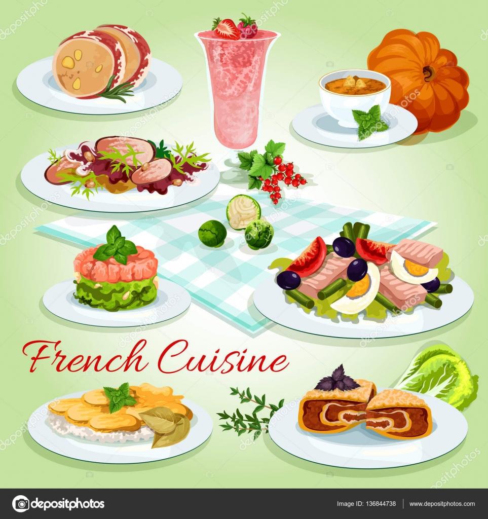 französische küche-symbol für restaurant-menü-design — stockvektor