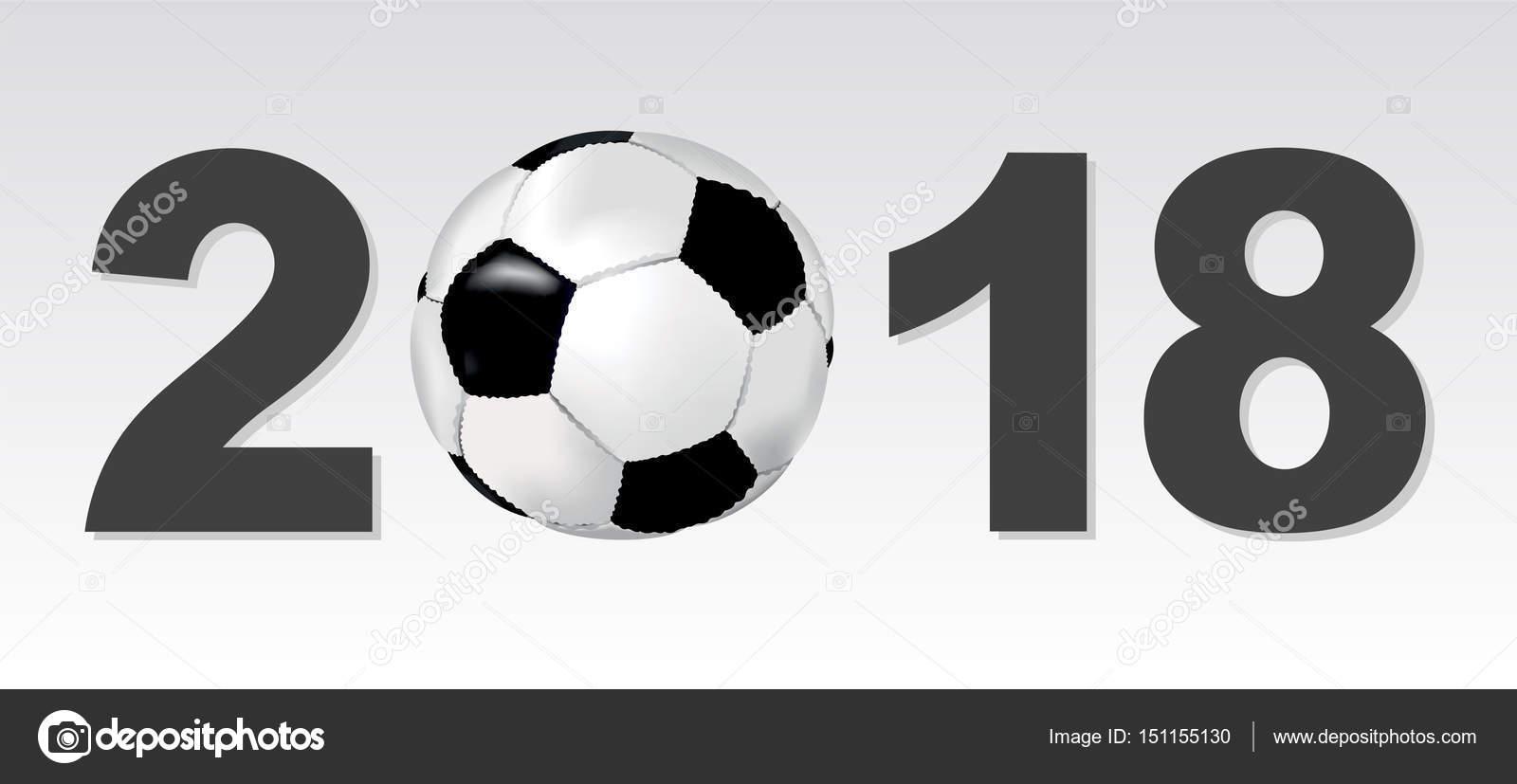 背景与标志 2018年和足球球 — 图库矢量图片#151155130