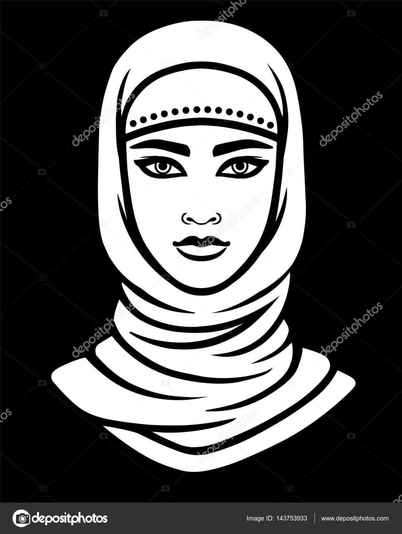 Рисунок на хиджабе