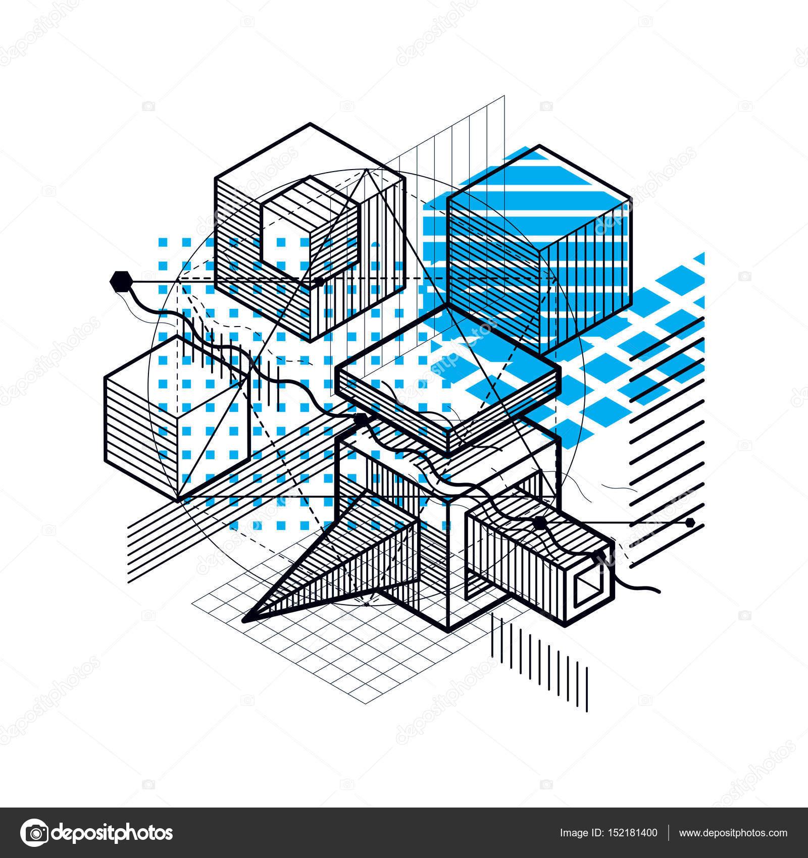 抽象设计与三维线性网格形状