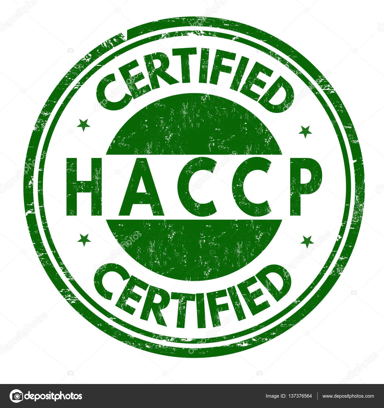 HACCP (Hazard Analysis Critical Control Points) sign or ...