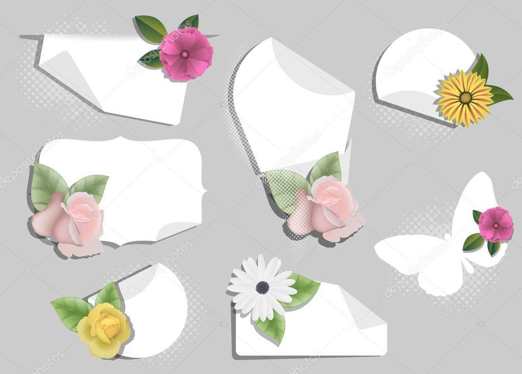 Наклейки открытки для цветов