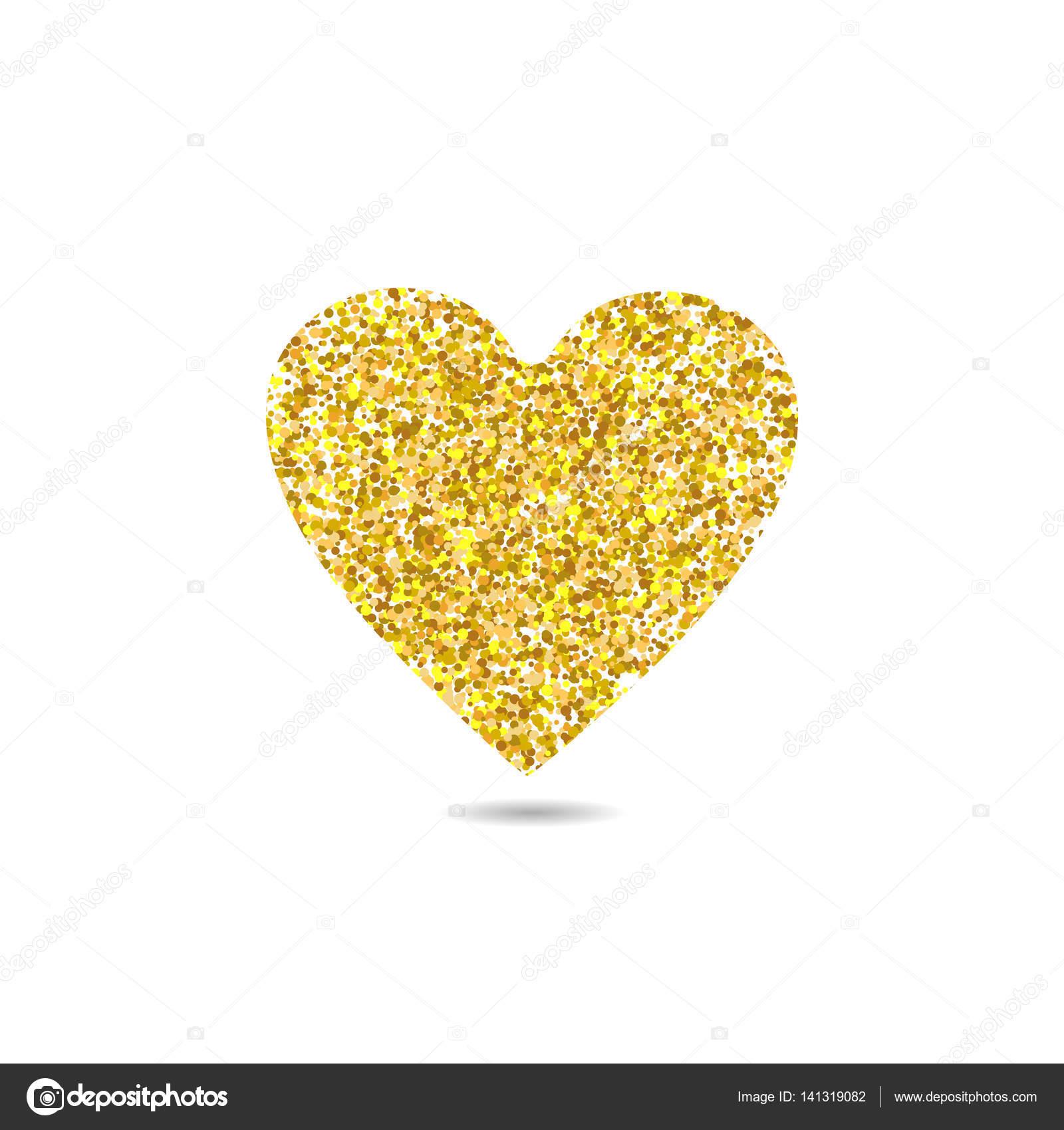 Digital <b>Glitter Hearts</b> Clipart, Sparkly Glittery <b>Heart</b>, Gold ...