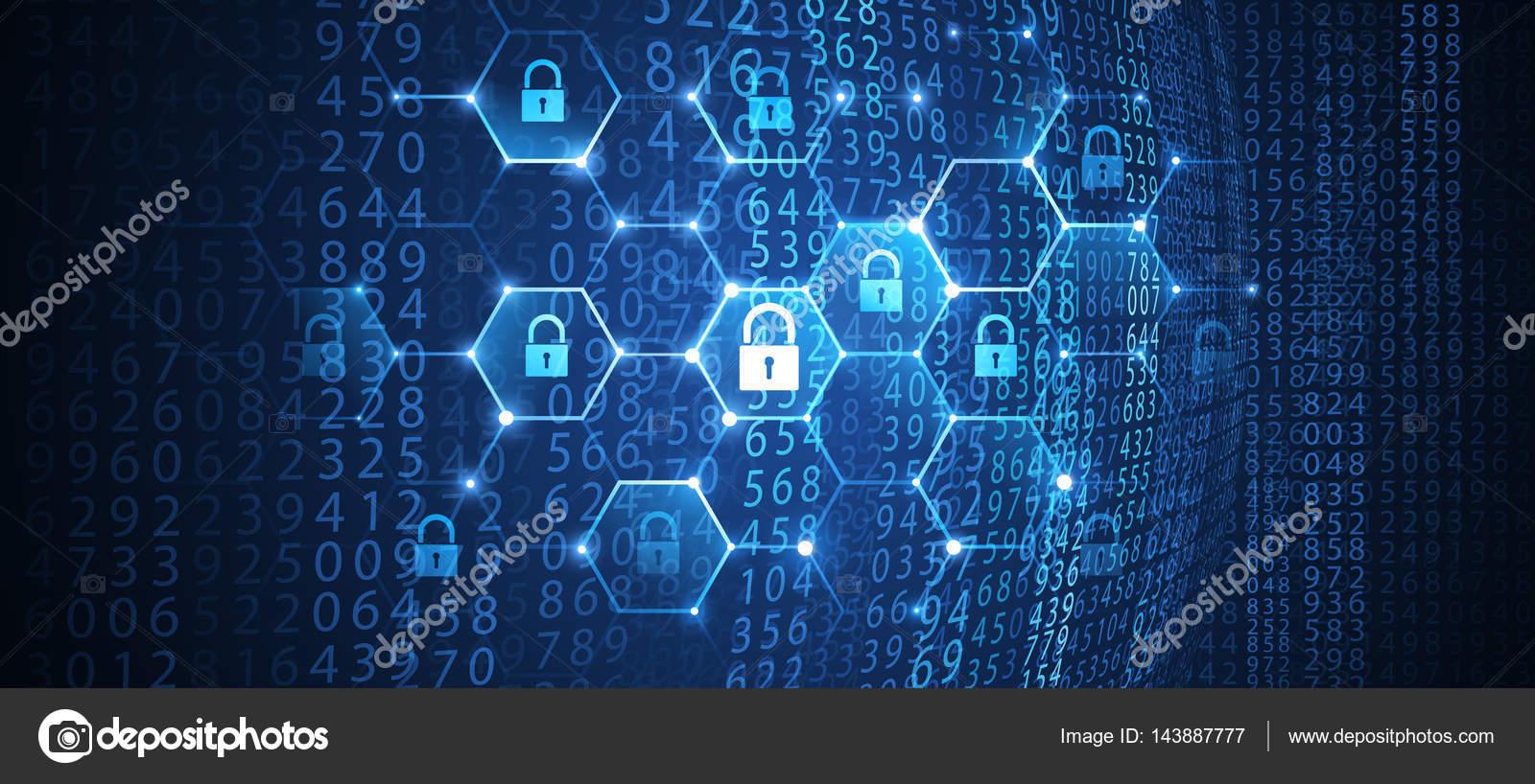 互联网安全的全球网络背景.矢量图– 图库插图