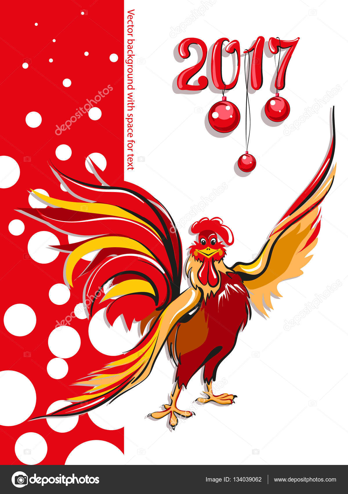 Download - Symbol of the year, funny cock — Stock Illustration ...