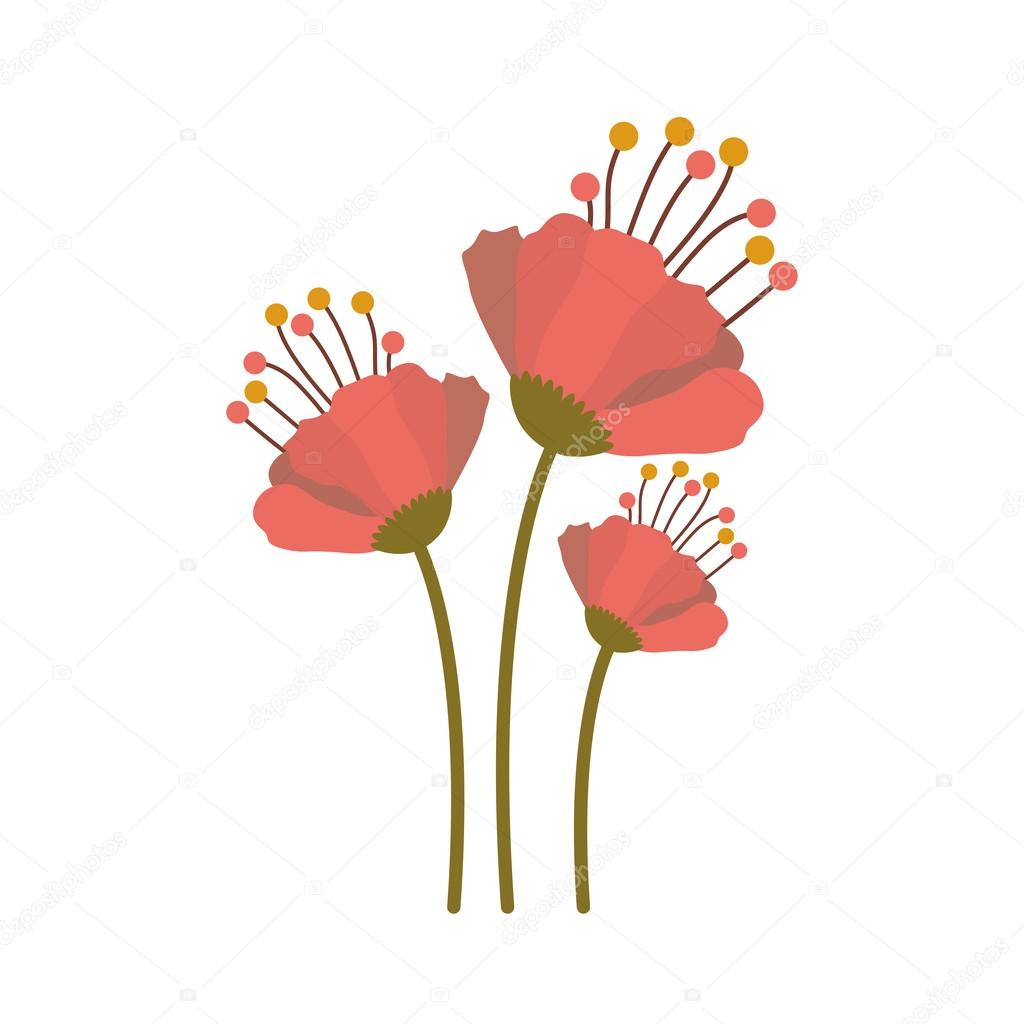 Beautiful flower icon stock vector grgroupstock 127792716 beautiful pink flower icon with green leaves vector illustration vector by grgroupstock dhlflorist Images