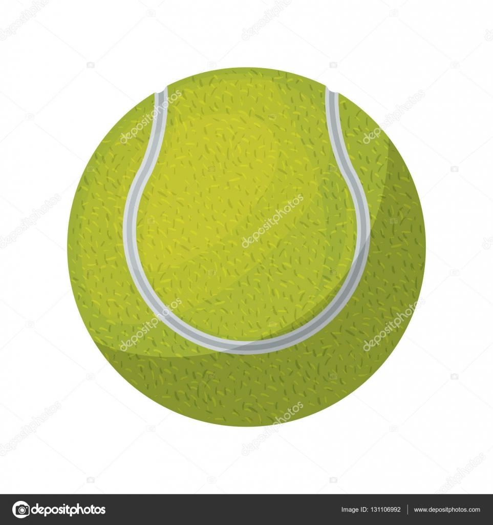 Tenis pelota stock de ilustracion ilustracion libre de stock de - Color De La Silueta Con La Ilustraci N De Vector De Bola De Tenis Vector De Grgroupstock