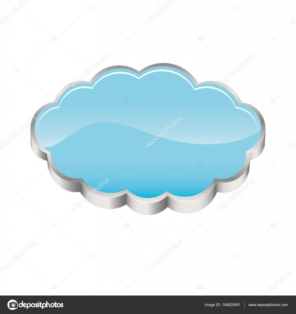 逼真的 3d 形状云存储矢量图– 图库插图