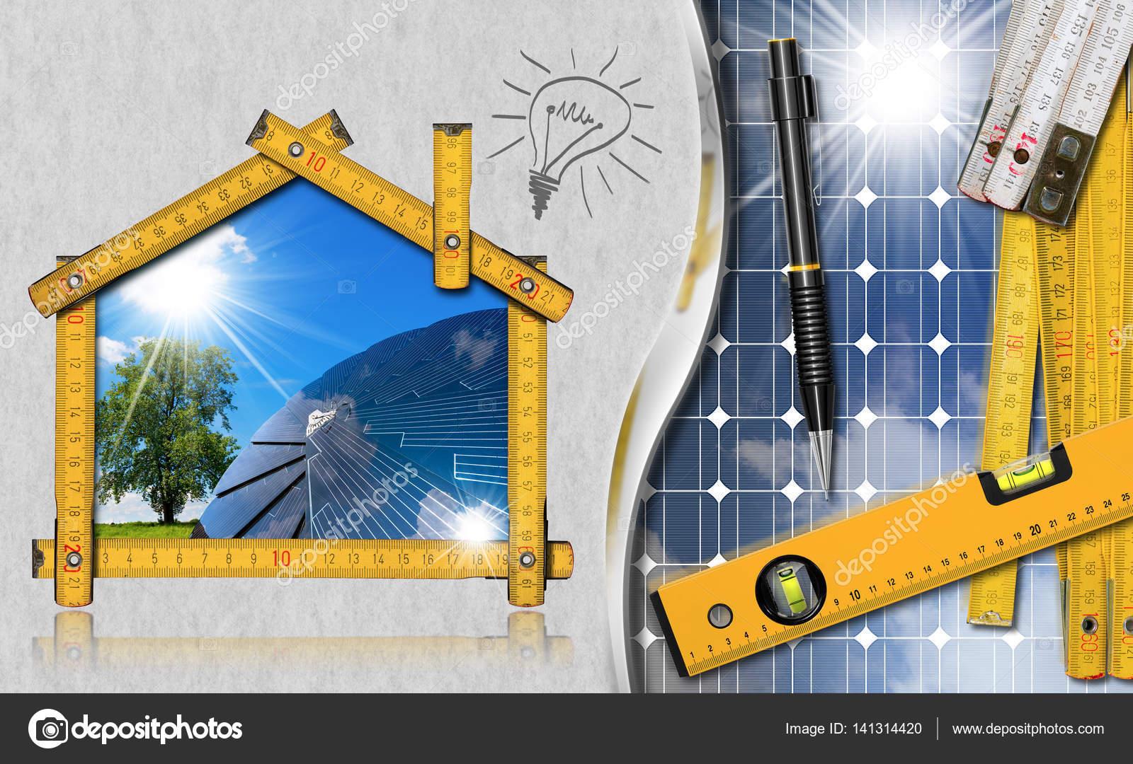 Projet de maison écologique avec panneau solaire image