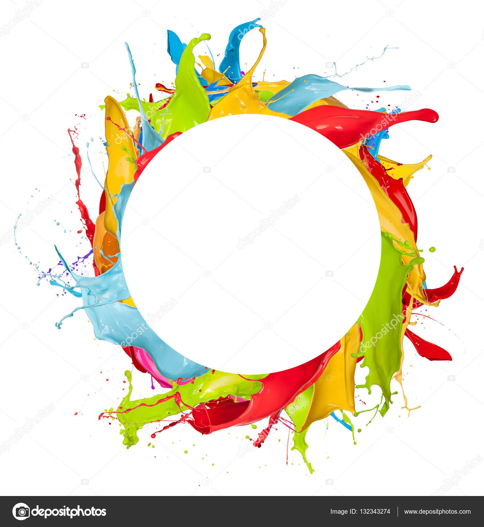 Salpicaduras de color abstracto sobre fondo blanco fotos de stock jag cz 132343274 - Salpicaduras de pintura ...