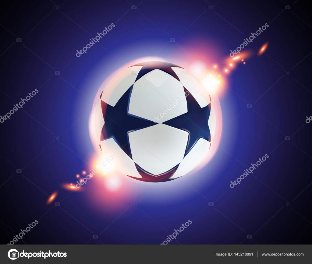 蓝色背景上的蓝色星星足球球 — 图库矢量图片#145218891