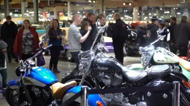 Tuned Vintage motorcycles on display