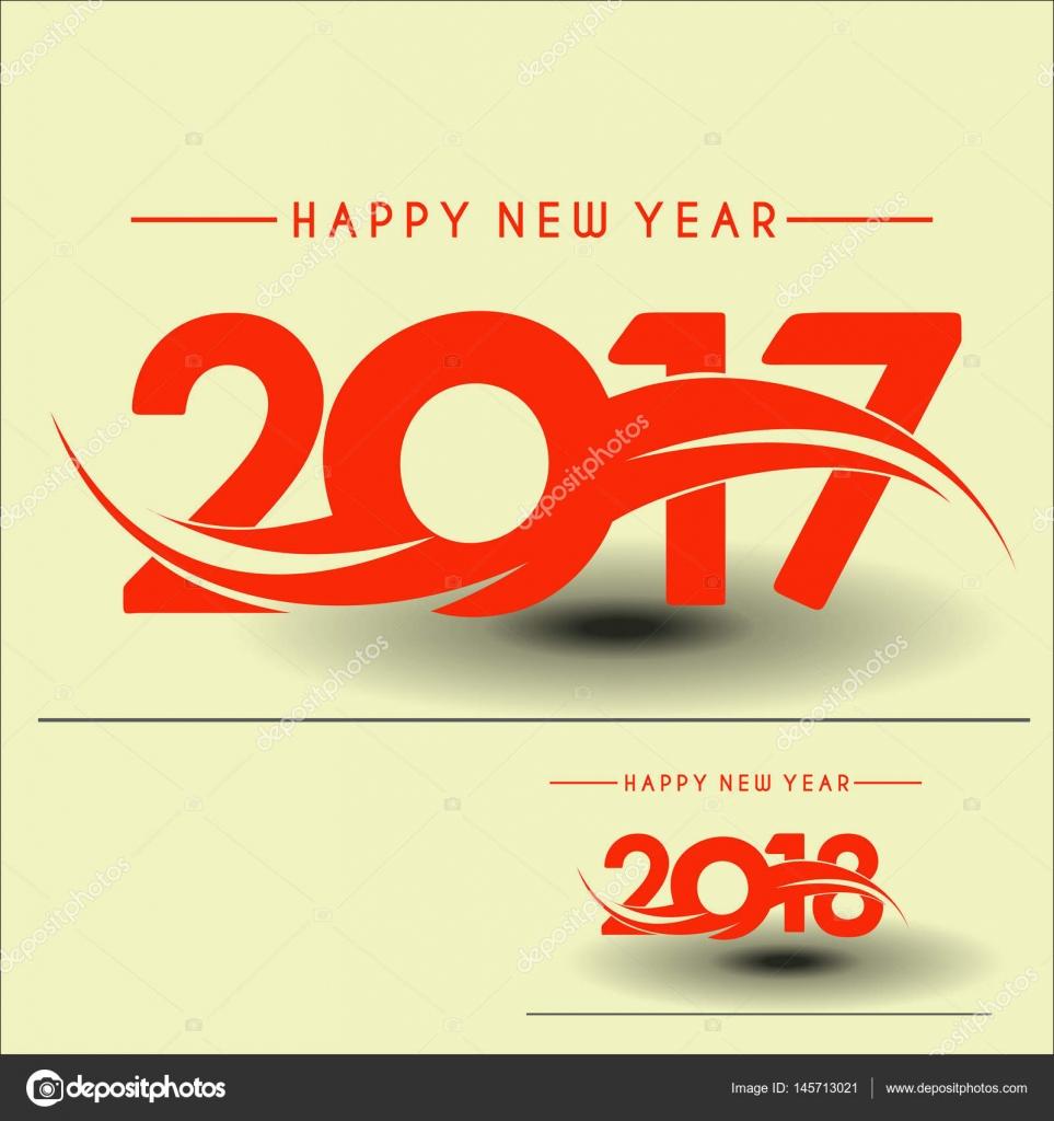 创意设计背景 2017,2018 快乐新的一年.快乐的新年书法文字