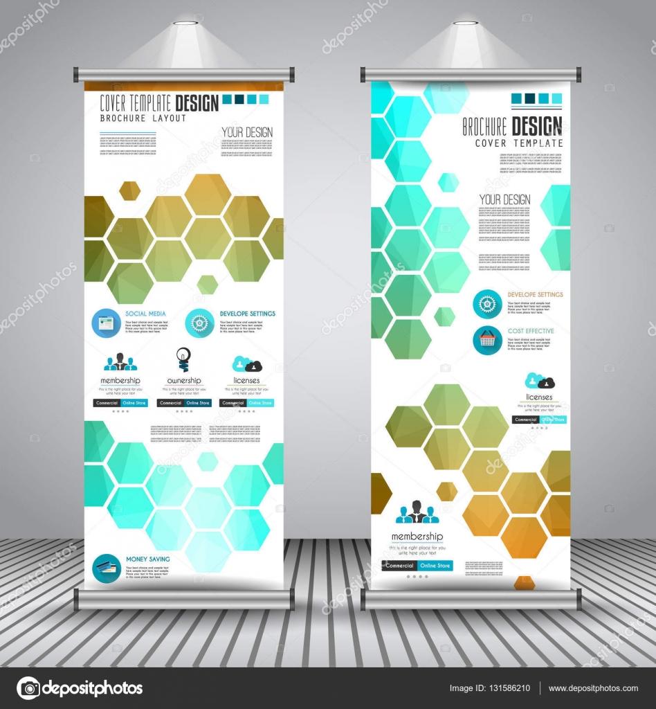 Advertisement roll up business flyers — Stock Vector © DavidArts ...