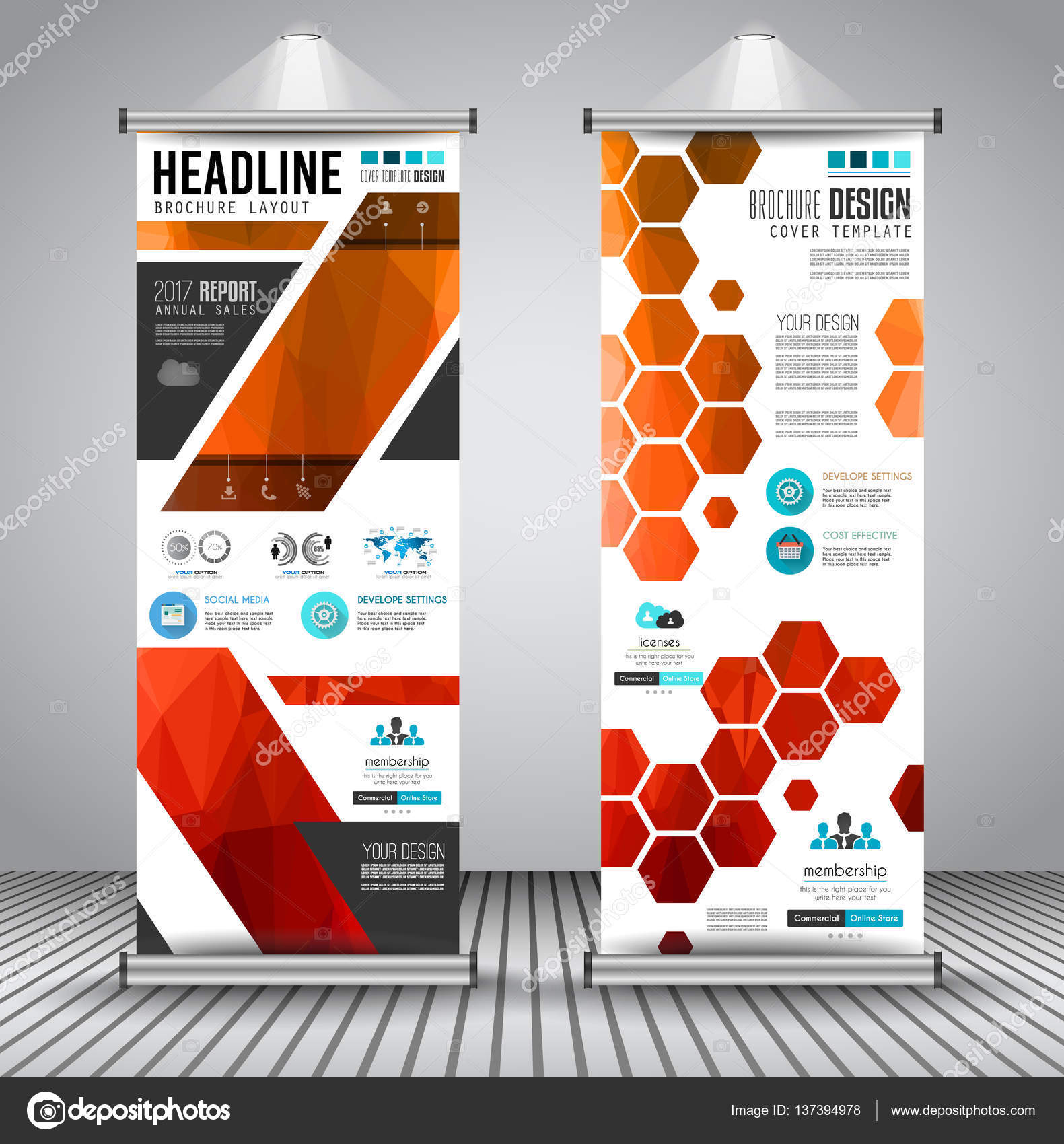 advertisement roll up business flyers stock vector © davidarts advertisement roll up business flyers or banners vertical design vector template for cover presentation geometrical shape background