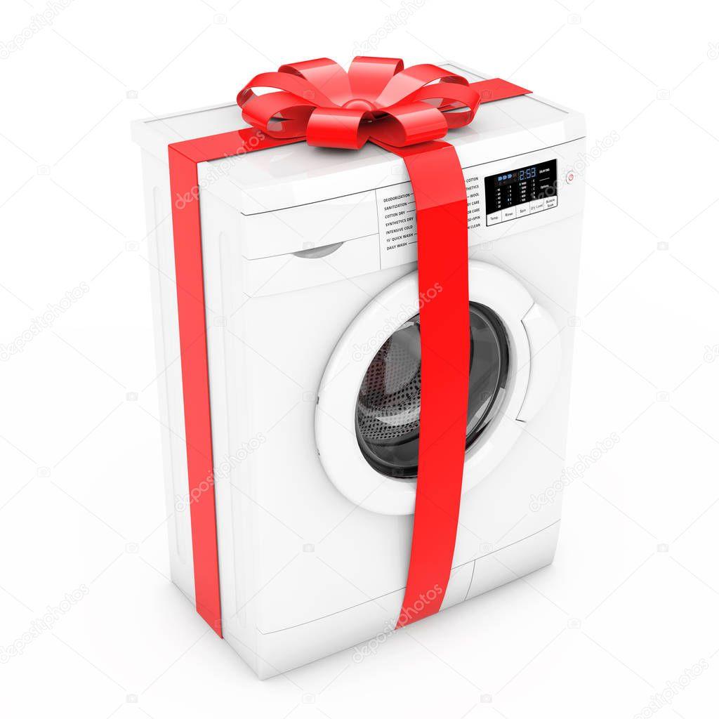 Как упаковать стиральную машину в подарок 5