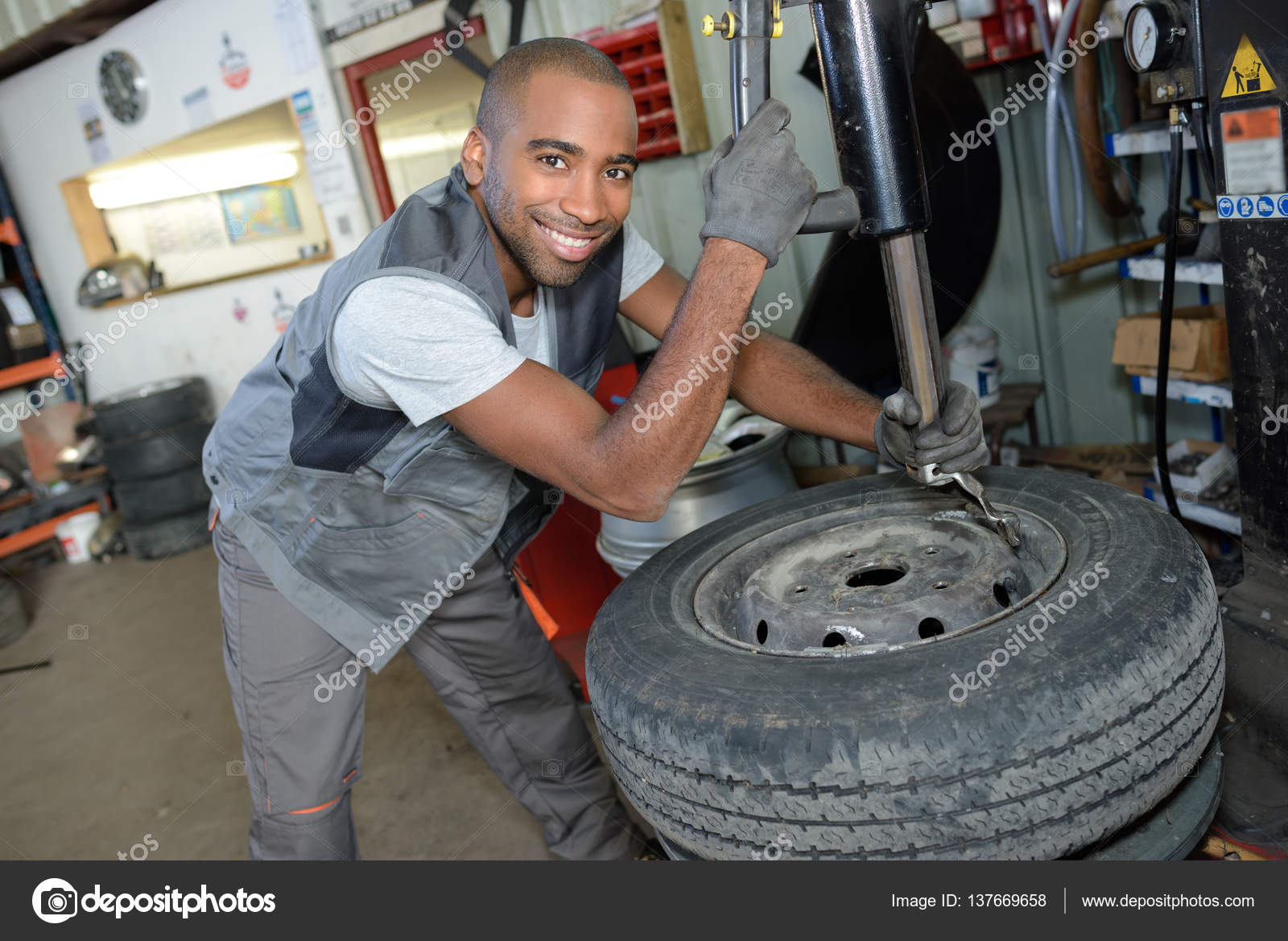 tire technician posing and work stock photo copy photography tire technician posing and work stock photo 137669658