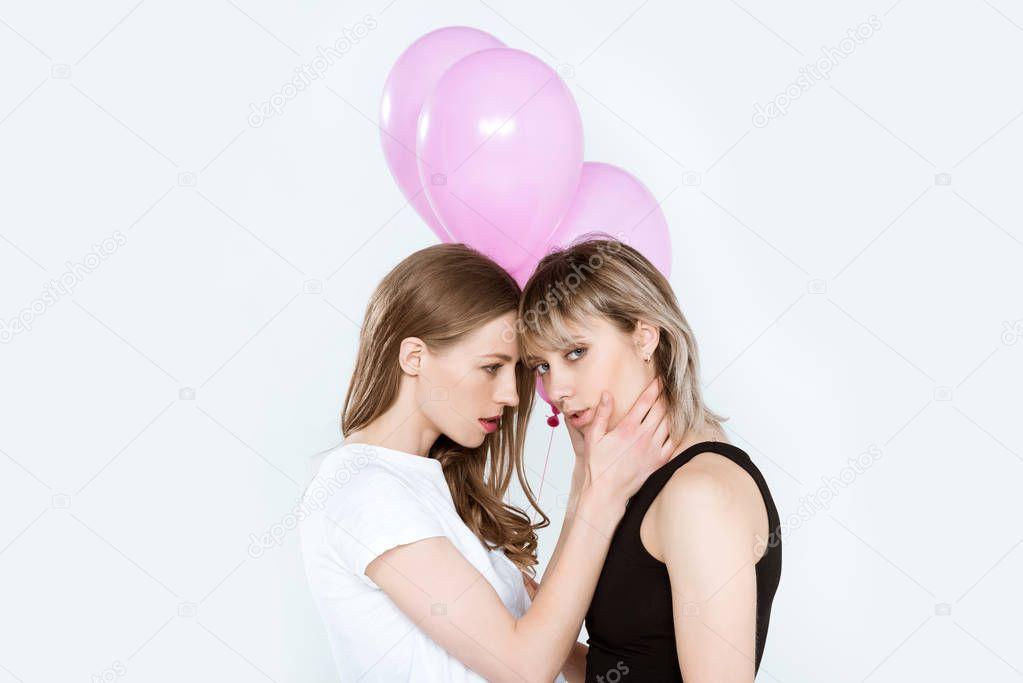 lesbi-s-sharikami-onlayn